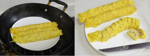 Trứng cuộn thịt đơn giản cho bữa cơm tối - 3