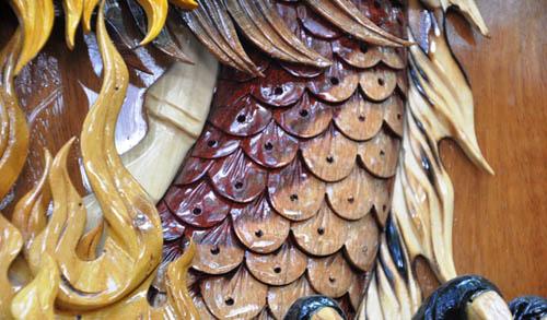 Ngắm bản đồ Việt Nam được trang trí bằng 70 loại gỗ - 6