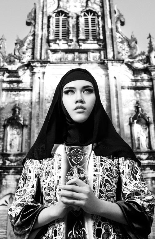 Vợ Minh Tiệp hóa phụ nữ Trung Đông huyền bí - 8
