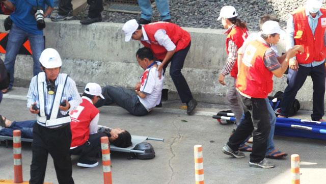 Diễn tập dập lửa, cứu người trong hầm vượt sông Sài Gòn - 8