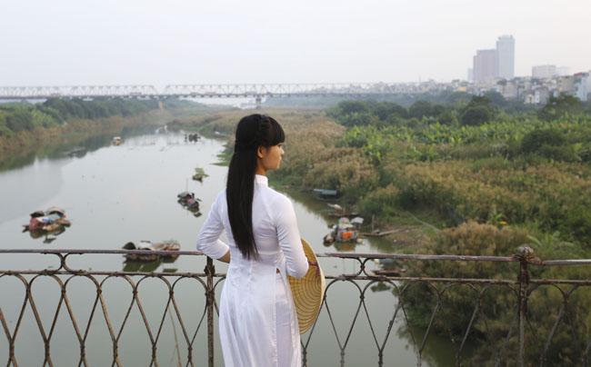 Ảnh: Mùa cỏ lau thơ mộng dưới chân cầu Long Biên - 9