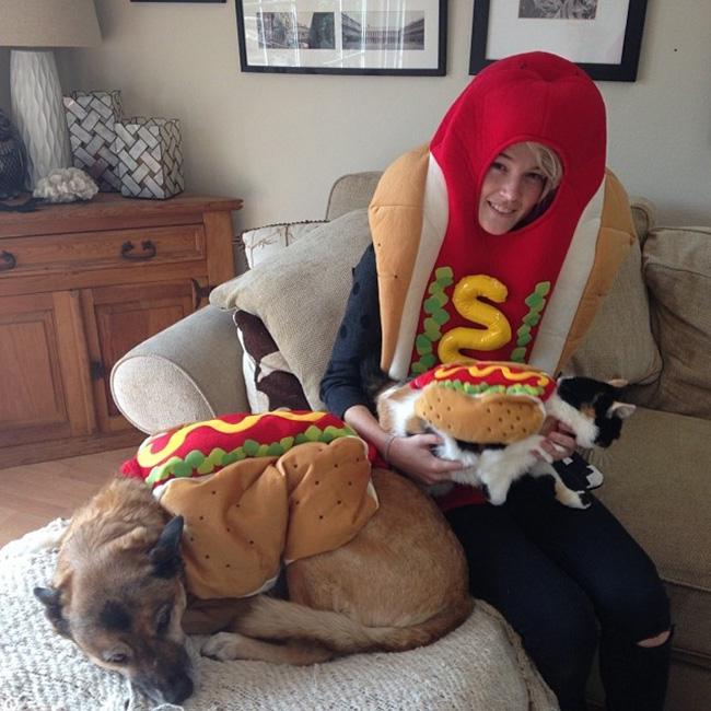 Cặp đôi hotdog và humbuger.