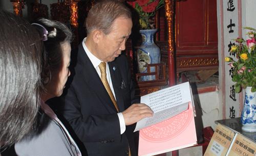 Tổng thư ký LHQ từng thăm nhà thờ họ Phan Huy ở Việt Nam? - 1