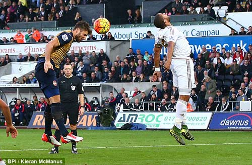"Swansea – Arsenal: Hiệp 2 ""tan nát"" - 1"
