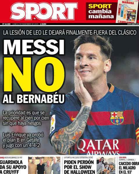 Messi không thể tham dự trận El Clascio tại Bernabeu - 1