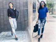Thời trang - 4 mẹo giúp Tăng Thanh Hà mặc quần jeans tuyệt đẹp