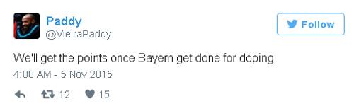Fan Arsenal tố Bayern… dùng doping - 1