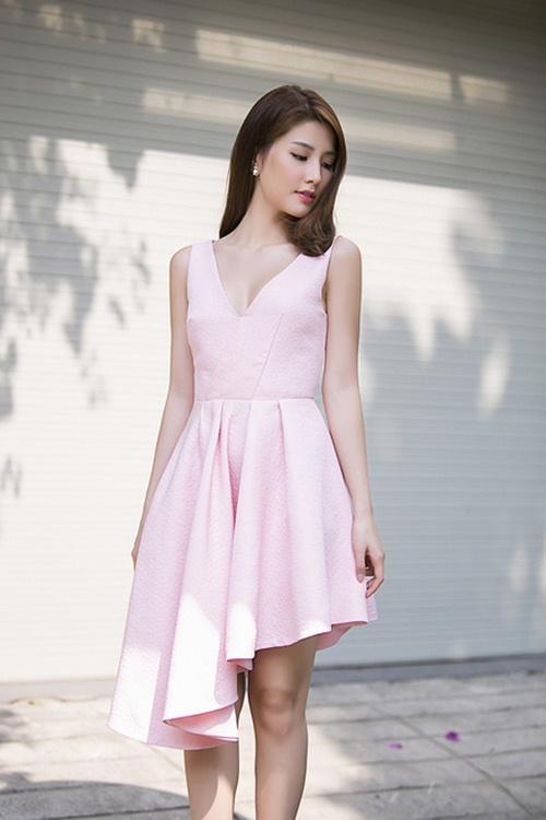 Mùa thu mặc đẹp với váy bất đối xứng - 5