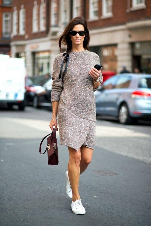 Mùa thu mặc đẹp với váy bất đối xứng - 10