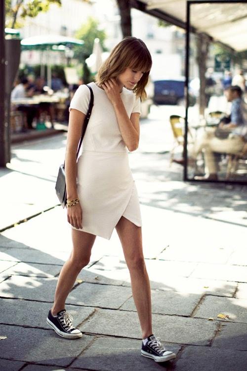 Mùa thu mặc đẹp với váy bất đối xứng - 7