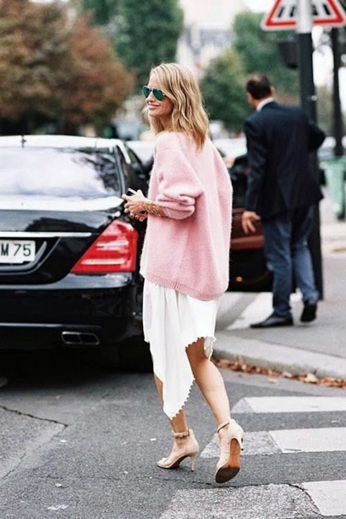 Mùa thu mặc đẹp với váy bất đối xứng - 13