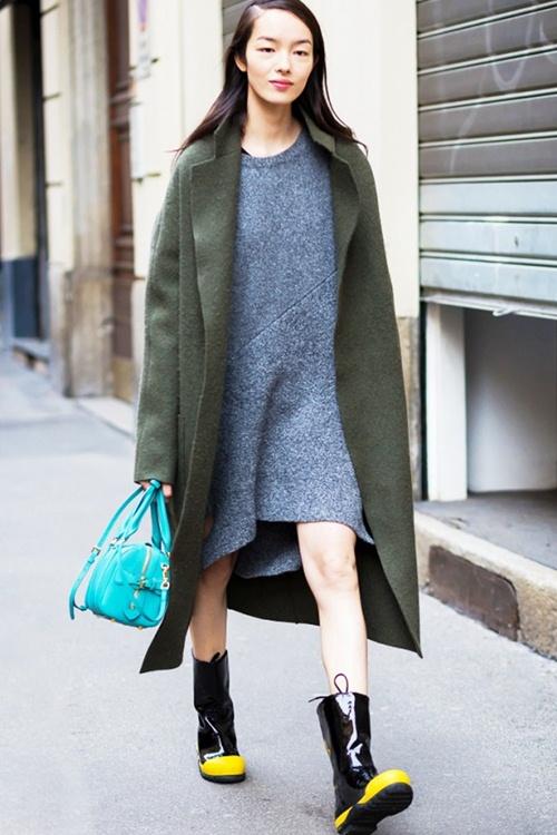 Mùa thu mặc đẹp với váy bất đối xứng - 2