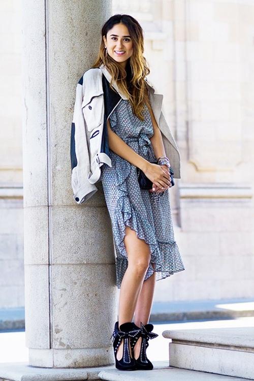 Mùa thu mặc đẹp với váy bất đối xứng - 12