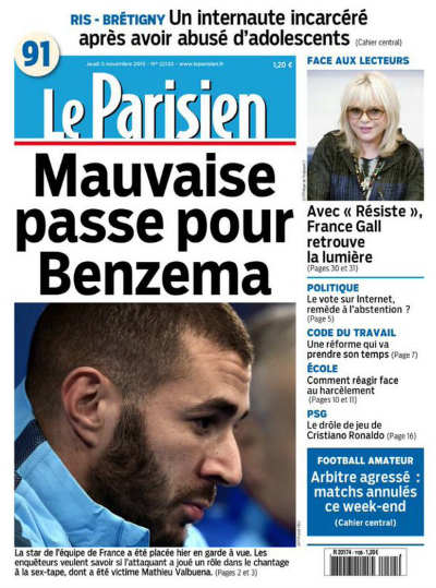 Nếu bị kết tội, Benzema có thể phải ngồi tù 5 năm - 7