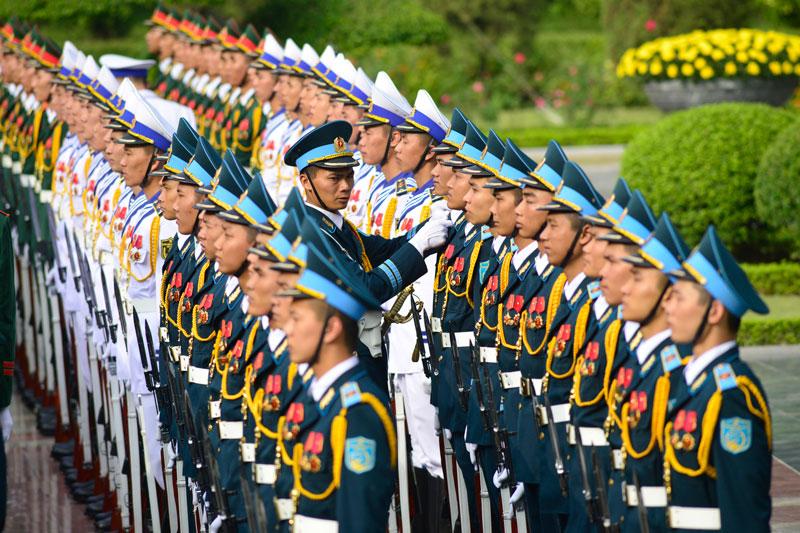 Cận cảnh Lễ đón Chủ tịch Trung Quốc Tập Cận Bình - 9