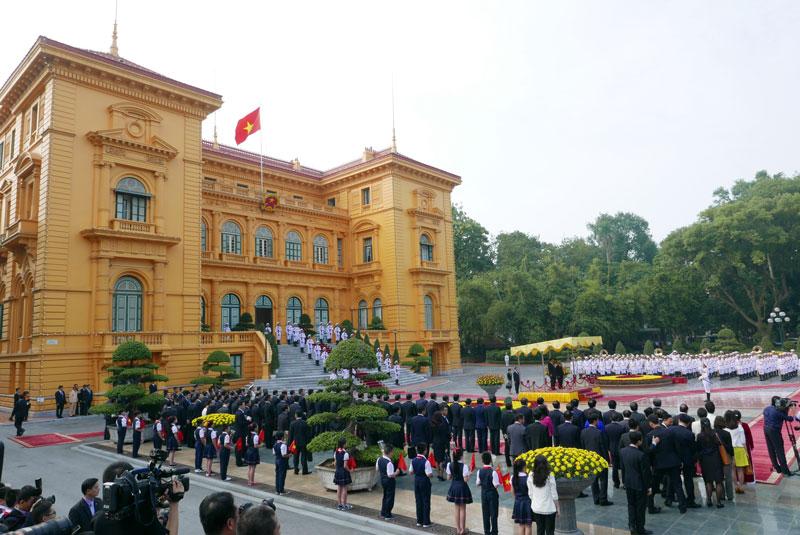 Cận cảnh Lễ đón Chủ tịch Trung Quốc Tập Cận Bình - 2