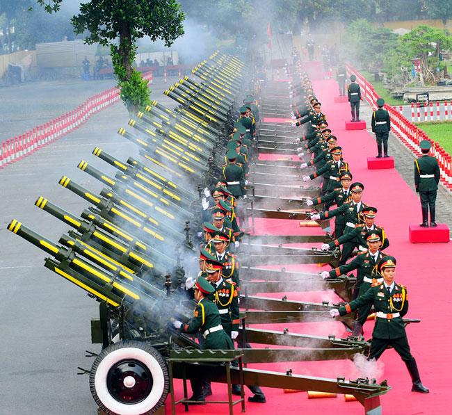 Cận cảnh Lễ đón Chủ tịch Trung Quốc Tập Cận Bình - 16