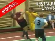 Bóng đá - Cầu thủ đấm thẳng mặt trọng tài vì ức chế