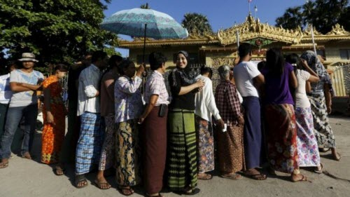 Ảnh: Toàn cảnh cuộc bầu cử lịch sử tại Myanmar - 2