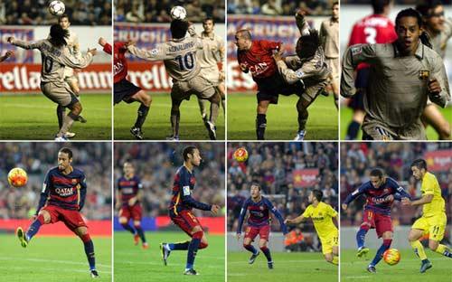 """""""Phù thủy"""" Neymar tái hiện kiệt tác của Ronaldinho - 1"""