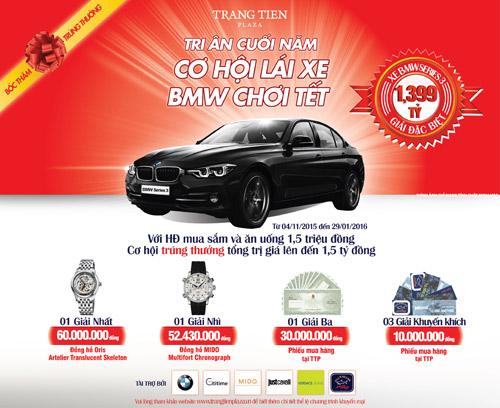 Tràng Tiền Plaza tri ân khách hàng bằng xe BMW - 1