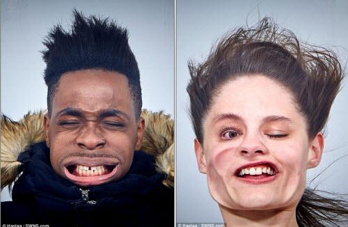 Những khuôn mặt biến dạng vì gió mạnh - 2