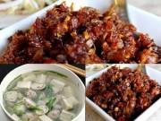 Ẩm thực - Thịt kho mắm ruốc, canh hẹ nấu đậu hút cơm ngày lạnh