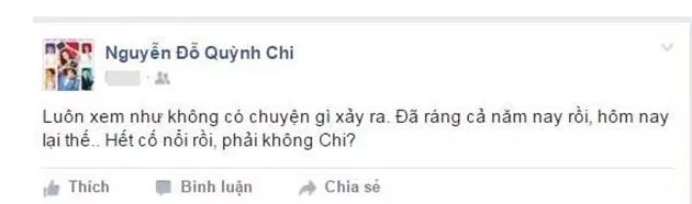 Facebook sao 10/11: Quỳnh Chi lên tiếng sau tin mất tích - 1