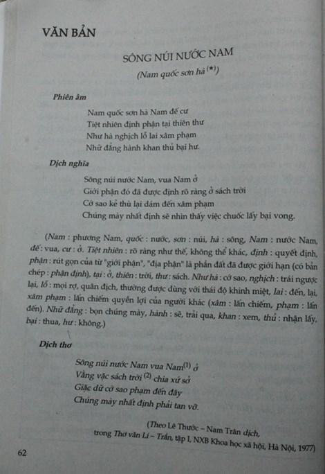 Về bài thơ Nam quốc sơn hà: Tổng chủ biên sách ngữ văn lớp 7 lên tiếng - 2