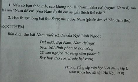 Về bài thơ Nam quốc sơn hà: Tổng chủ biên sách ngữ văn lớp 7 lên tiếng - 3