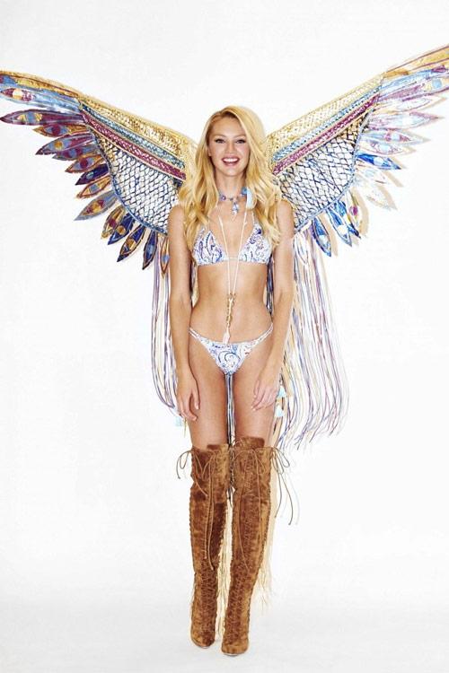 Thiên thần nội y thử đồ lót và cánh trước show diễn - 6