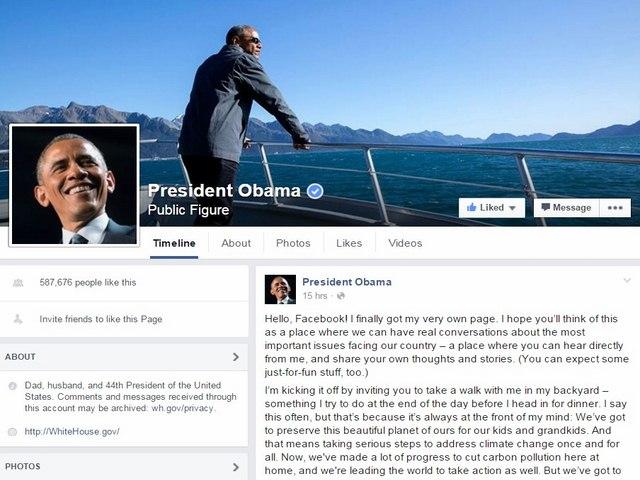 Ông Obama chính thức có Facebook cá nhân - 1