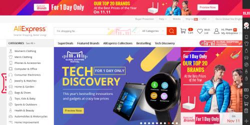 """11.11, ngày hội mua hàng hiệu online giảm giá """"khủng"""" tại TQ - 1"""