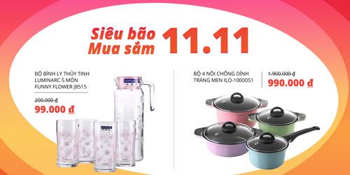 Siêu bão mua sắm đổ bộ Tiki.vn duy nhất hôm nay 11/11 - 4
