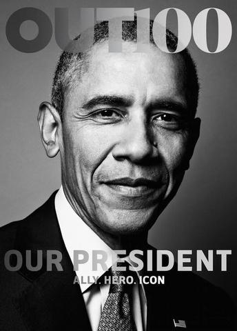 Obama thành Tổng thống đầu tiên lên bìa tạp chí gay - 1