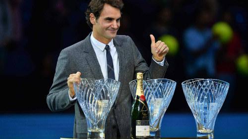 Djokovic, Federer chung vui ở Gala trao giải ATP 2015 - 2