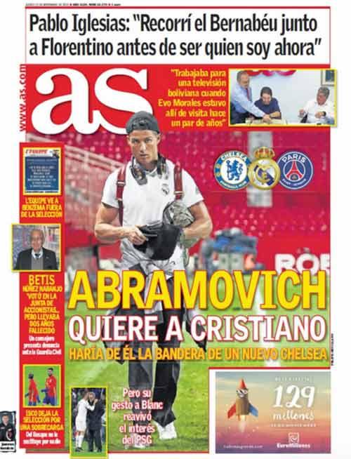 Chelsea: Giữ Mourinho, hỏi mua Ronaldo 100 triệu euro - 1