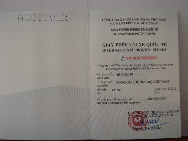 Từ tháng 12, cấp GPLX quốc tế ở hai thành phố lớn - 1