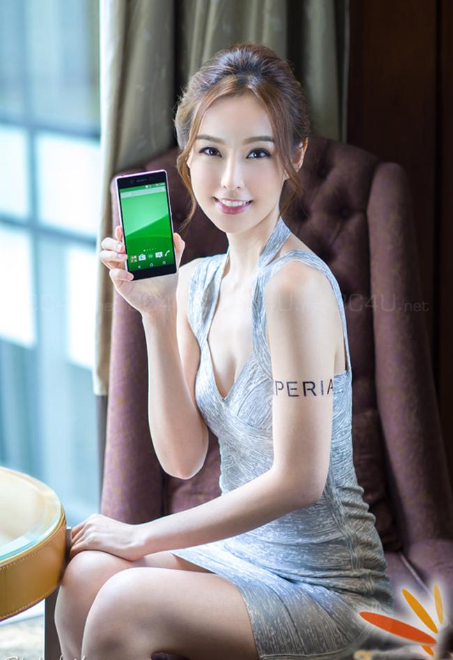 Vẻ đẹp sang trọng và lịch lãm của người đẹp bên smartphone Sony Xperia Z3+