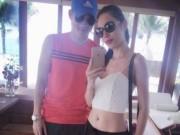 Phim - Facebook sao 13/11: Thủy Tiên khoe eo thon bên ông xã