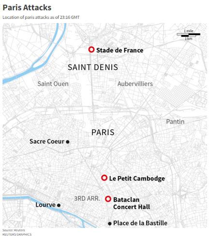 Tấn công hàng loạt đẫm máu ở Paris, 153 người chết - 5