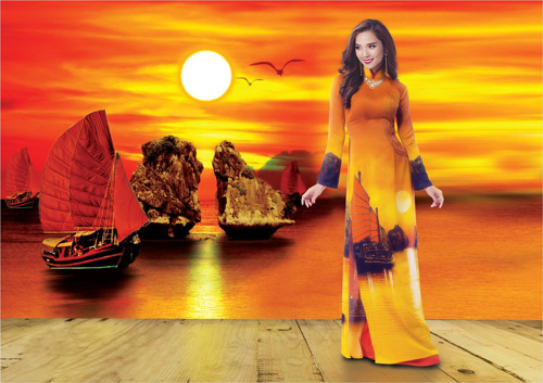 Nét đẹp Á Đông sống động trên áo dài Thái Tuấn - 1
