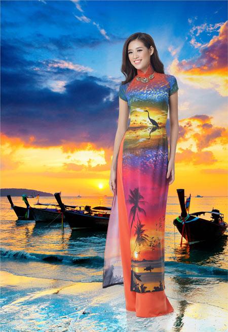 Nét đẹp Á Đông sống động trên áo dài Thái Tuấn - 2