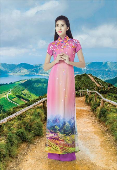 Nét đẹp Á Đông sống động trên áo dài Thái Tuấn - 3