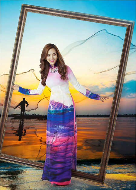 Nét đẹp Á Đông sống động trên áo dài Thái Tuấn - 4