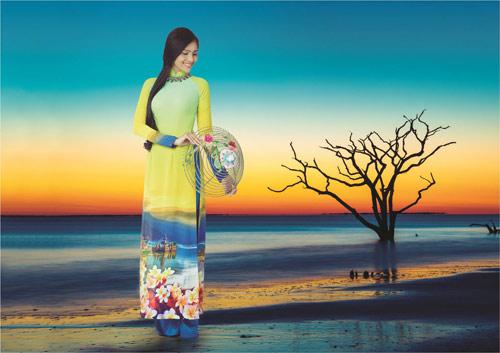 Nét đẹp Á Đông sống động trên áo dài Thái Tuấn - 5