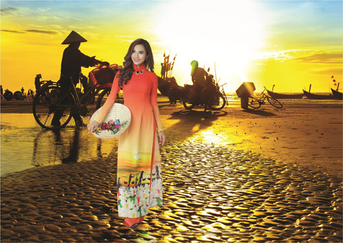 Nét đẹp Á Đông sống động trên áo dài Thái Tuấn - 6