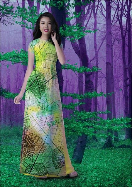 Nét đẹp Á Đông sống động trên áo dài Thái Tuấn - 7
