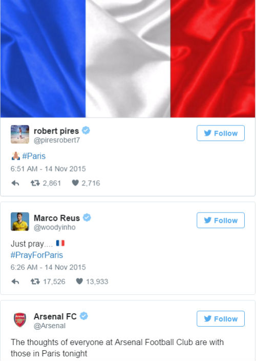 Đánh bom khủng bố Paris: SAO bóng đá bàng hoàng - 2