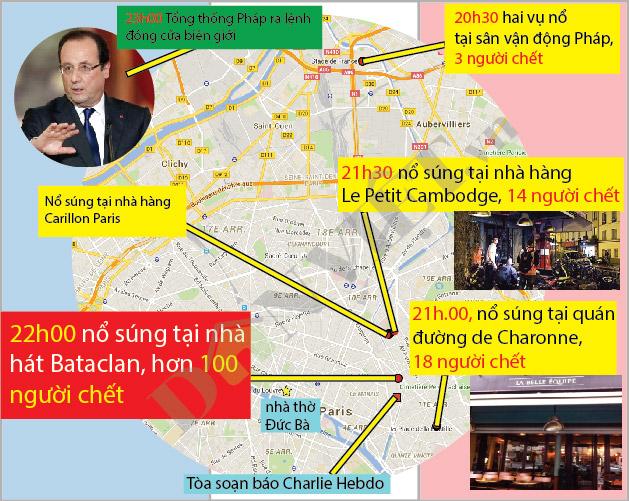 [Infographic] Toàn cảnh cuộc khủng bố kinh hoàng ở Pháp - 1